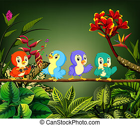 the little birds sing the song in the forest