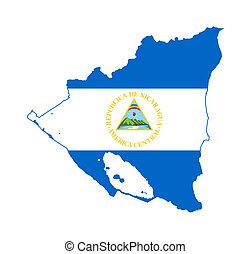 Nicaragua flag on map - Illustration of the Nicaragua flag ...