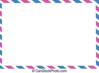 illustration of the postal envelope