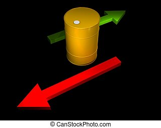 illustration of the price of a oil barrel