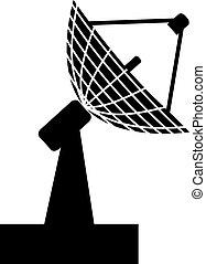 radar - illustration of the radar in black and white color