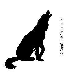 illustration of the rambling dog on white background