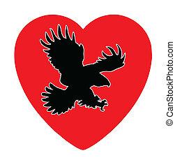 illustration of the ravenous bird inwardly heart