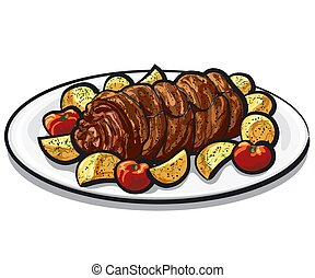 roasted beef roulade