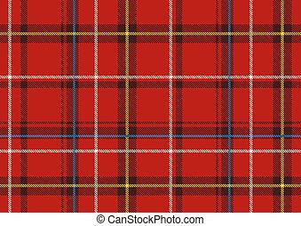 illustration of The Scottish plaid. Textured tartan background. Seamless pattern.