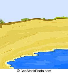 Illustration of the sea. eps10