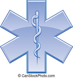 Star of Life - Illustration of the Star of Life symbol used ...