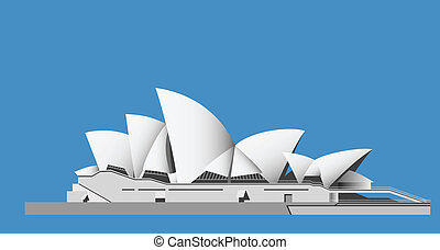 Sydney Opera House - vector - Illustration of the Sydney...