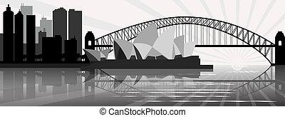 Sydney skyline - vector