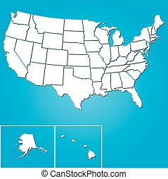 Illustration of the United States of America