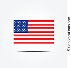 Illustration of the USA flag icon