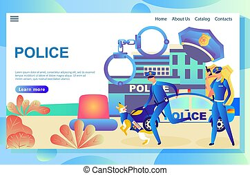 Illustration of the web page, police department