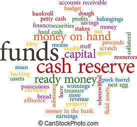 funds in word clouds - illustration of the word funds in...