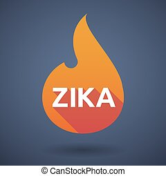 "Illustration of the word ""Zika"" in a flame icon"