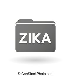 "Illustration of the word ""Zika"" in a folder icon"