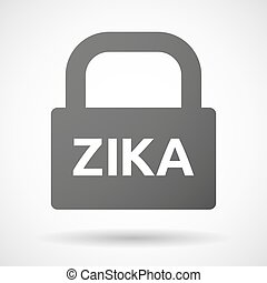 "Illustration of the word ""Zika"" in a lock icon"