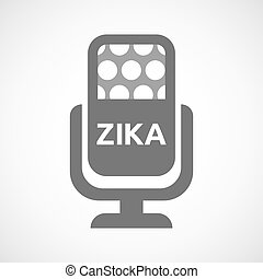 "Illustration of the word ""Zika"" in a microphone icon"