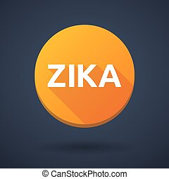 "Illustration of the word ""Zika"" in a round icon"