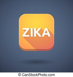 "Illustration of the word ""Zika"" in a square icon"