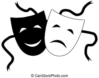 Theatrical masks - Illustration of Theatrical masks