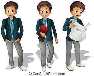 boys - illustration of three boys on a white background