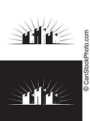 Illustration of Three Castle Towers