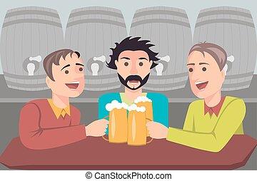 Illustration of three friends