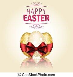 Three Golden Easter eggs