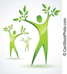 three tree-like figures - Illustration of three tree-like...