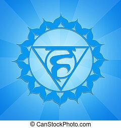Throat Chakra - illustration of Throat Chakra symbol