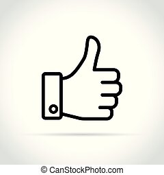 thumb up icon on white background