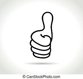 thumbs icon on white background
