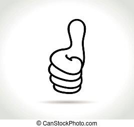 thumbs icon on white background