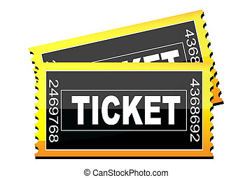 tickets icon - illustration of tickets icon on white...