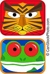 Tiger and Frog Masks