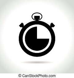 time icon on white background - Illustration of time icon on...