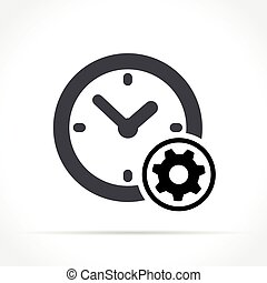 time management icon on white background
