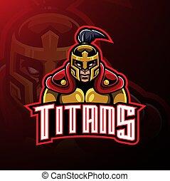 Titans warrior mascot logo design