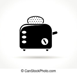 toaster icon on white background