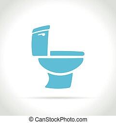 toilet icon on white background - Illustration of toilet...