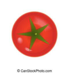 Tomato icon over white