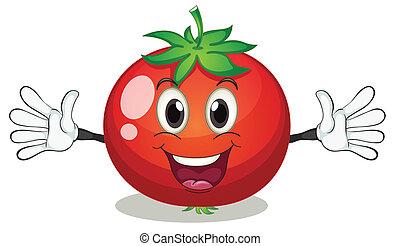 tomato - illustration of tomato on a white background