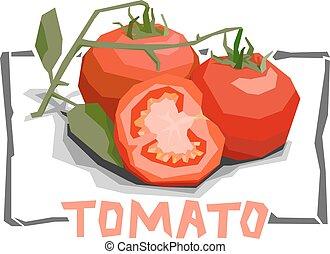 Illustration of tomatoes.