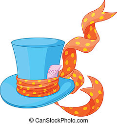 Top hat of Mad Hatter - Illustration of Top hat of Mad ...