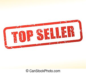 top seller text stamp