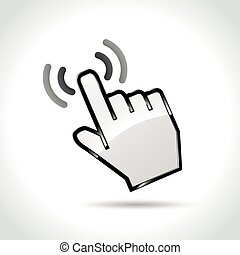 touch icon on white background