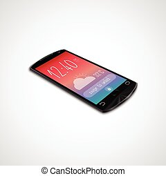 Touchscreen smartphone isolated