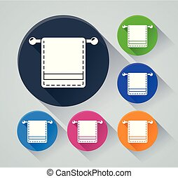 towel circle icons with shadow