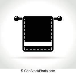 towel icon on white background