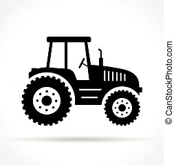 tractor on white background